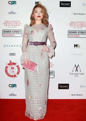 Florence Pugh - 2018 London Critics Circle Film Awards in London