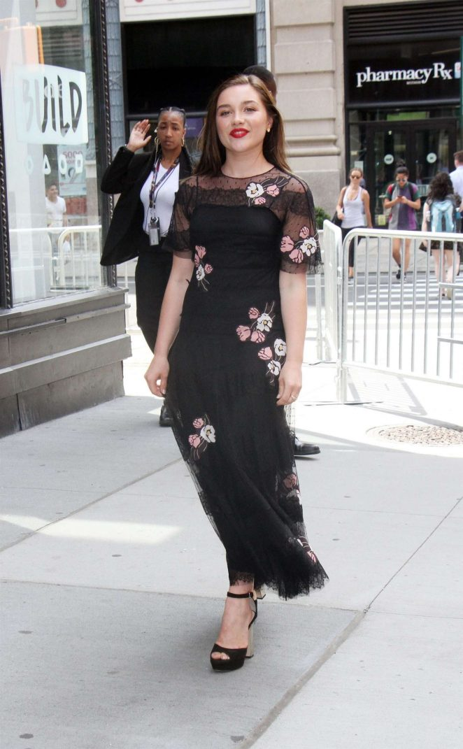 Florence Pugh – Arrives at AOL Build Series -08