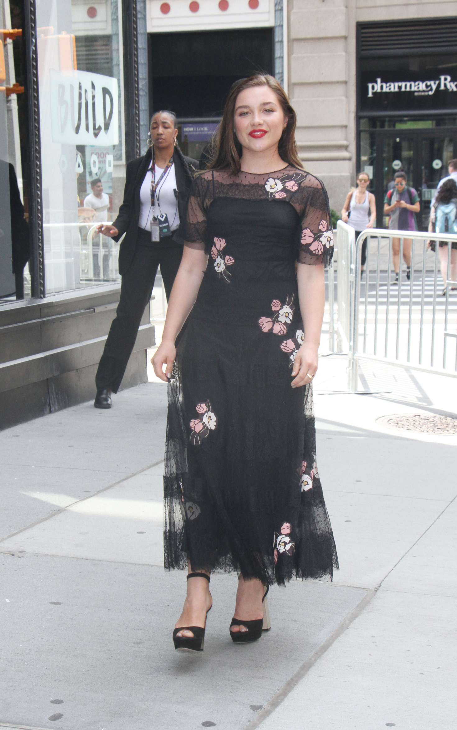 Florence Pugh 2017 : Florence Pugh – Arrives at AOL Build Series -20