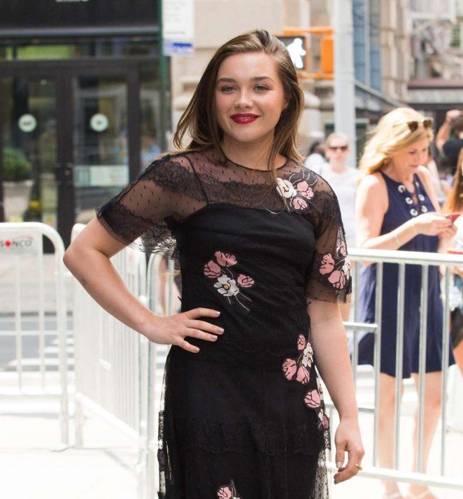 Florence Pugh – Arrives at AOL Build Series -34