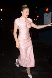 Florence Pugh - Arrives at the Soho Hotel in London