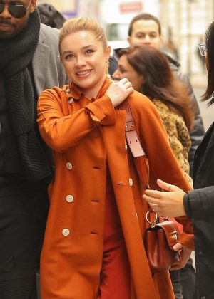 Florence Pugh - Arriving at AOL Build in New York