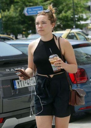 Florence Pugh out in Athens
