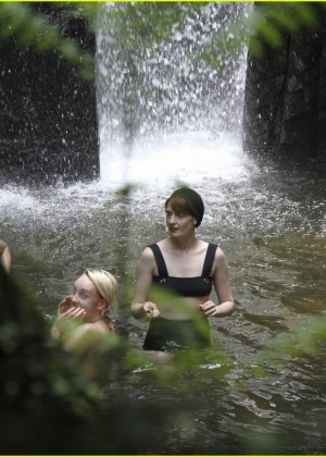 Florence Welch: wearing a bikini at a waterfall in Brazil-11