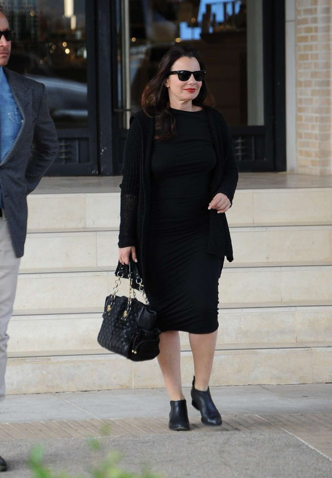 Fran Drescher holiday shopping at Barney's New York in Beverly Hills