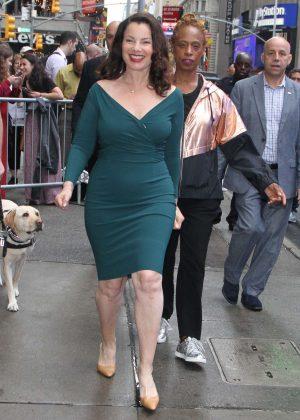 Fran Drescher - Leaves 'Good Morning America' in NY