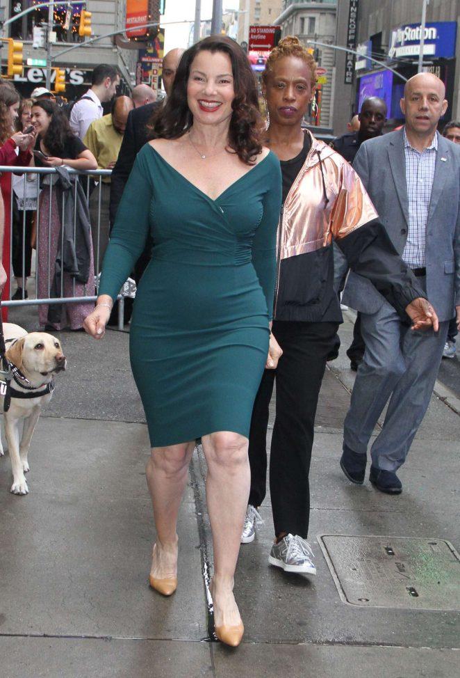 Fran Drescher – Leaves 'Good Morning America' in NY