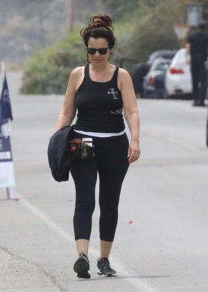 Fran Drescher out in Malibu