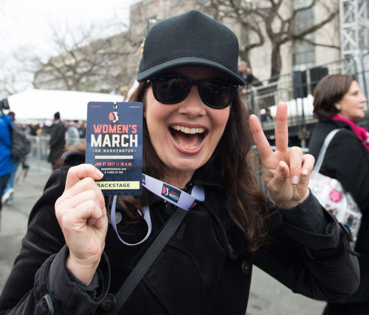Fran-Drescher:-Womens-March-on-Washingto