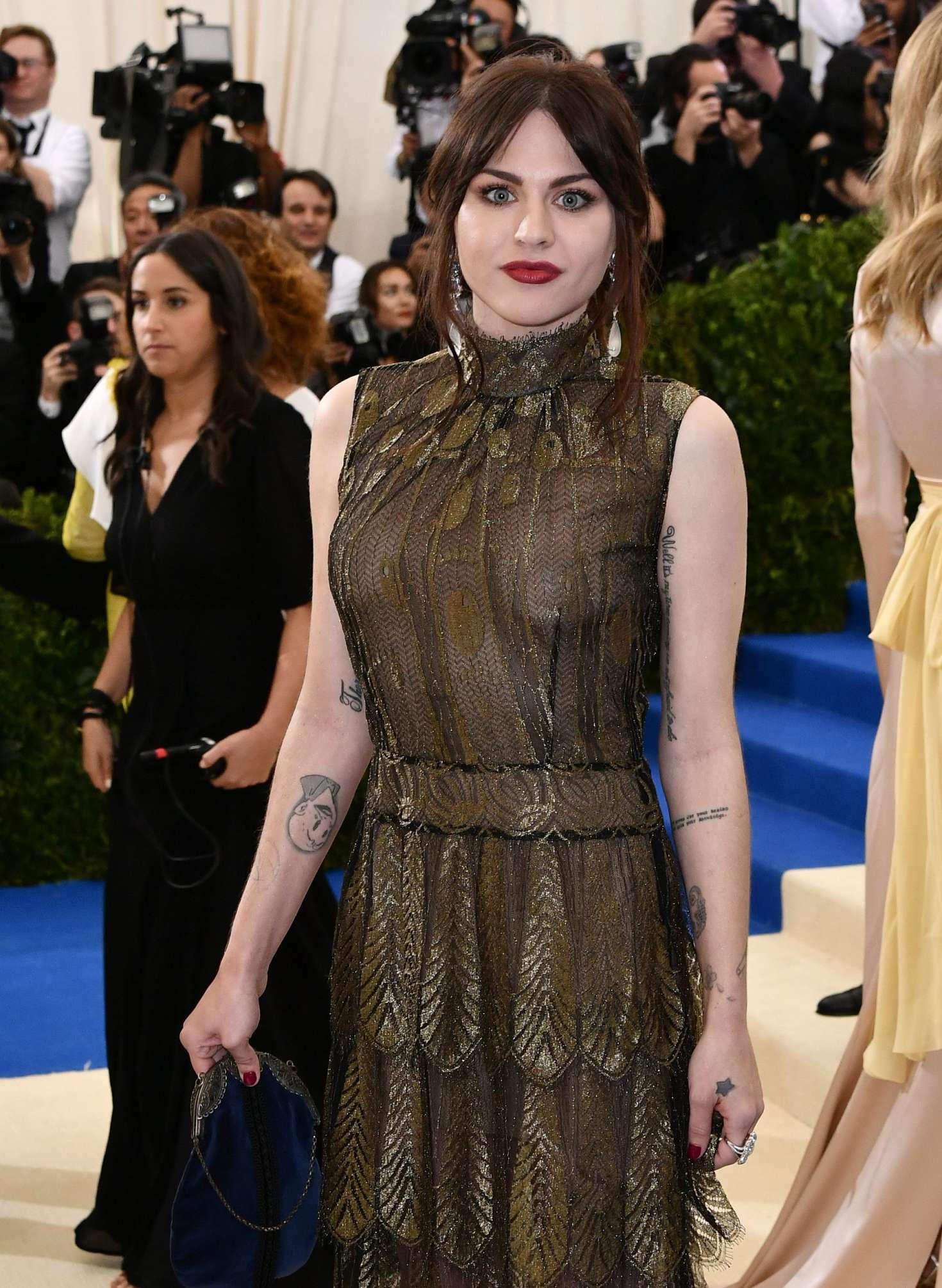 Frances bean cobain at met costume institute gala in new york