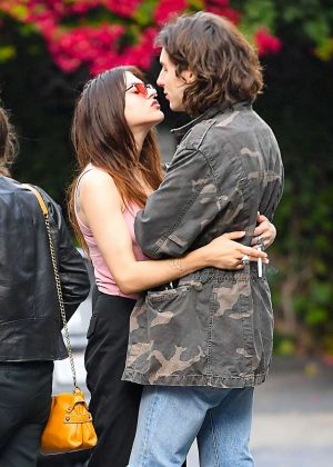 Frances Bean Cobain and Matthew Cook Kissing in Los Angeles
