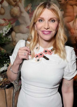 Frances Bean Cobain witrh Courtney Love – Maria Carla Boscono Party in Paris