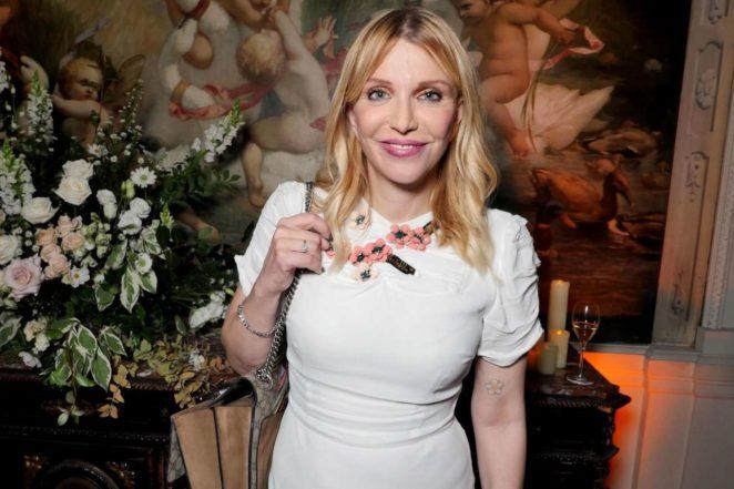 Frances Bean Cobain witrh Courtney Love – Maria Carla Boscono Party in Paris