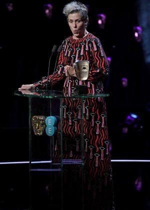 Frances McDormand - 2018 BAFTA Awards in London
