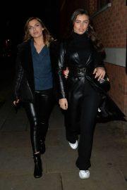 Francesca Allen and Maria Wild - Arriving at Zuma Restaurant in London