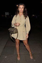 Francesca Allen - Arrives at Sumasan Twigga in Knightsbridge