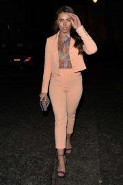 Francesca Allen - Heading out for dinner in Mayfair