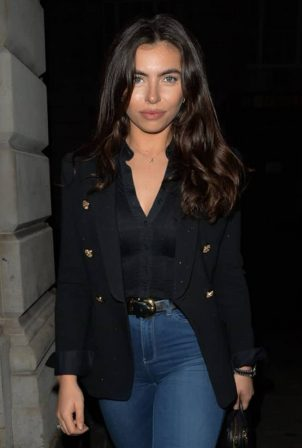 Francesca Allen - Heading to Novikov restaurant in London