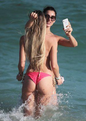 Livia Canalis and Francesca Brambilla in Bikini in Miami Beach Pic 35 of 35
