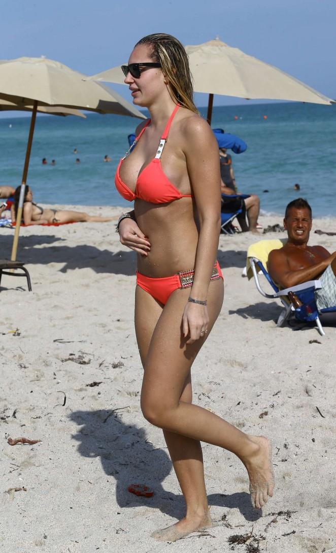 Francesca Brambilla – Bikini Candids in Miami-01