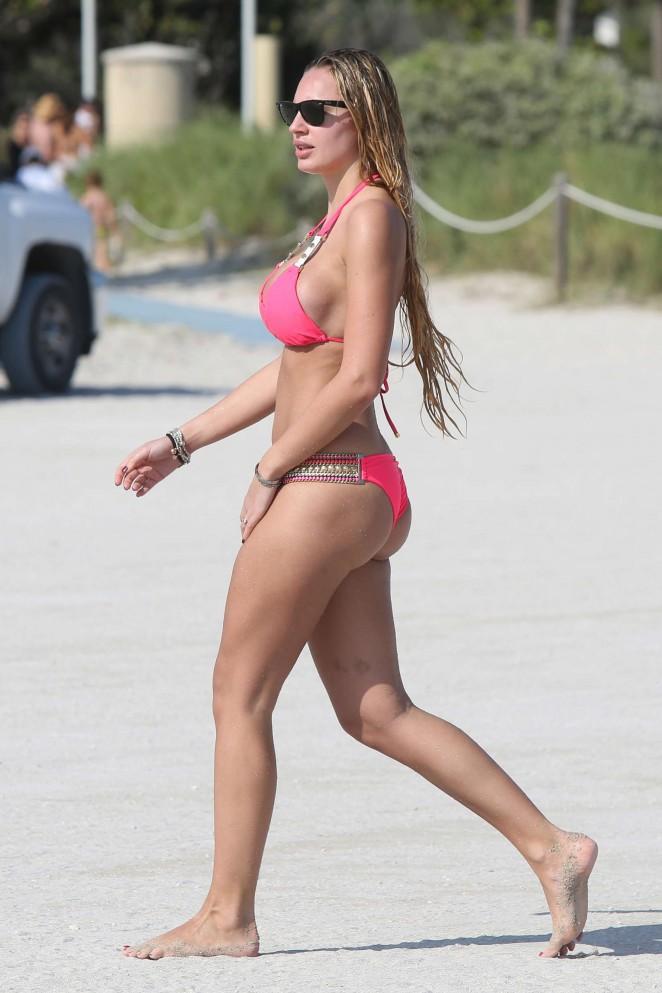 Francesca Brambilla – Bikini Candids in Miami-11