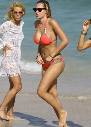 Francesca Brambilla – Bikini Candids in Miami-27
