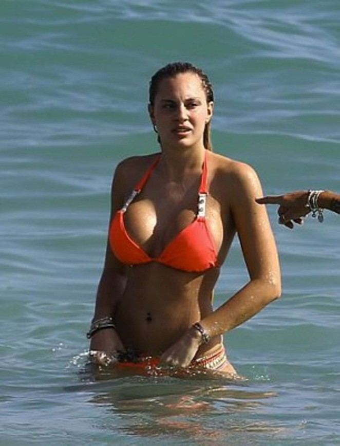 Francesca Brambilla – Bikini Candids in Miami-30