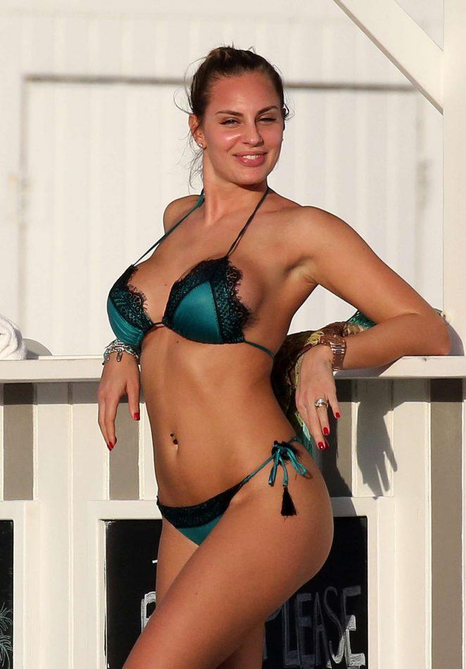 Francesca Brambilla in Bikini on Miami Beach