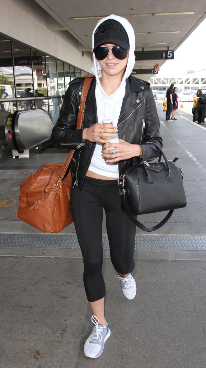 Francesca Eastwood at Los Angeles International Airport