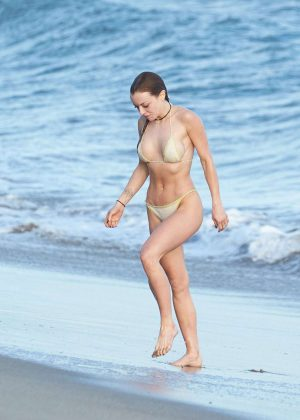 Francesca Eastwood in Bikini on the beach in Malibu