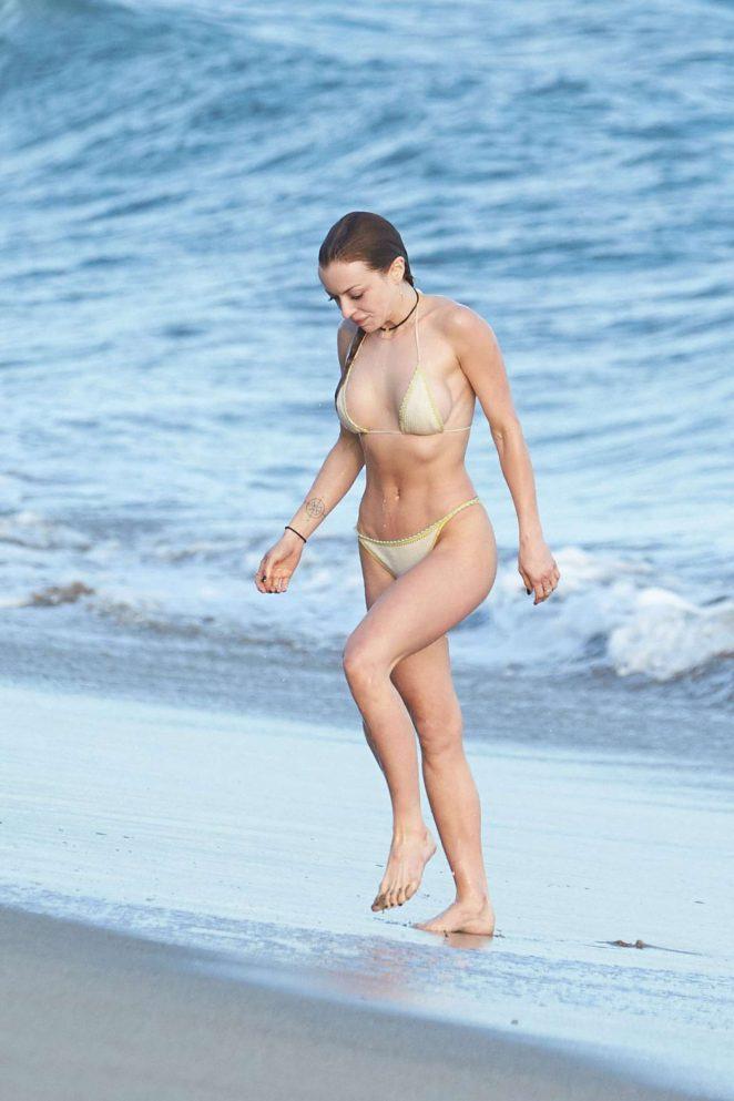 Francesca Eastwood in Bikini on the beach in Malibu