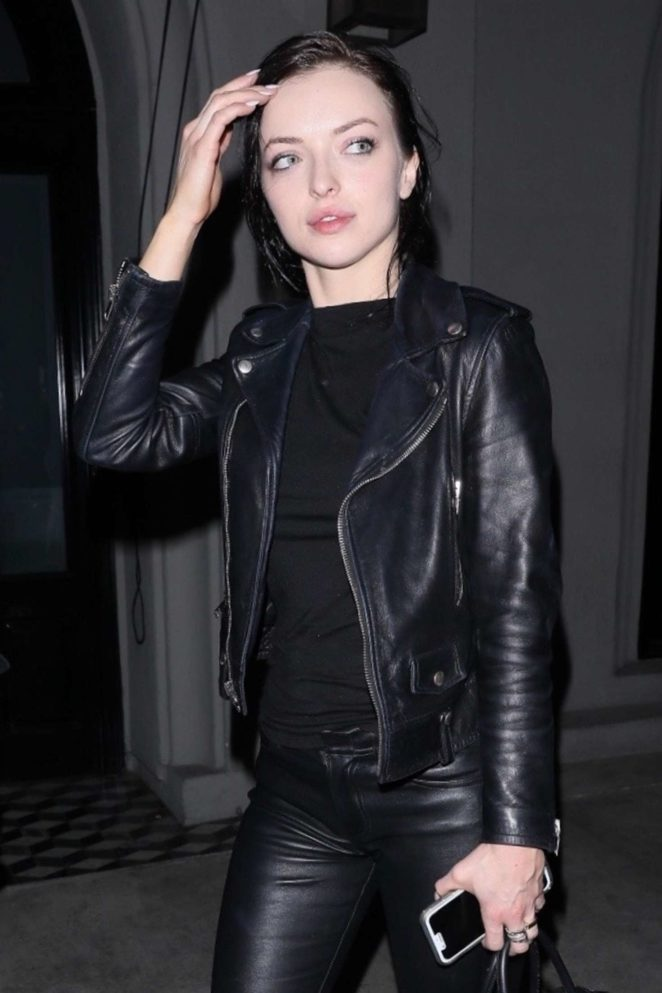 Francesca Eastwood in Black at Craig's restaurant in West Hollywood
