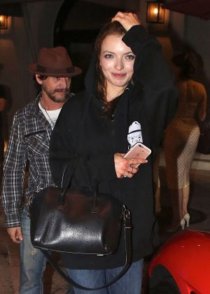 Francesca Eastwood in Jeans at Craig's Restaurant in Los Angeles