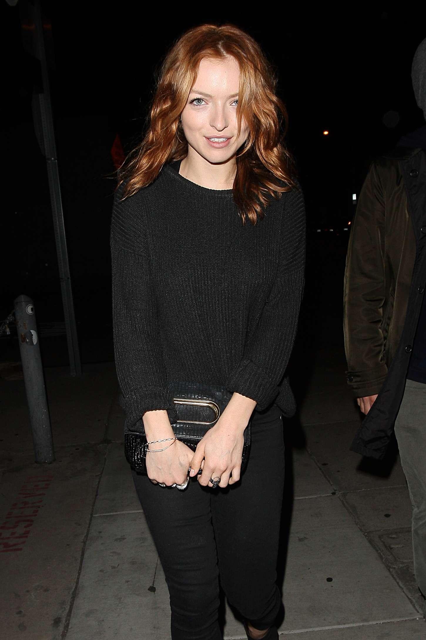 Francesca Eastwood - Leaving Craigs Restaurant in Los Angeles