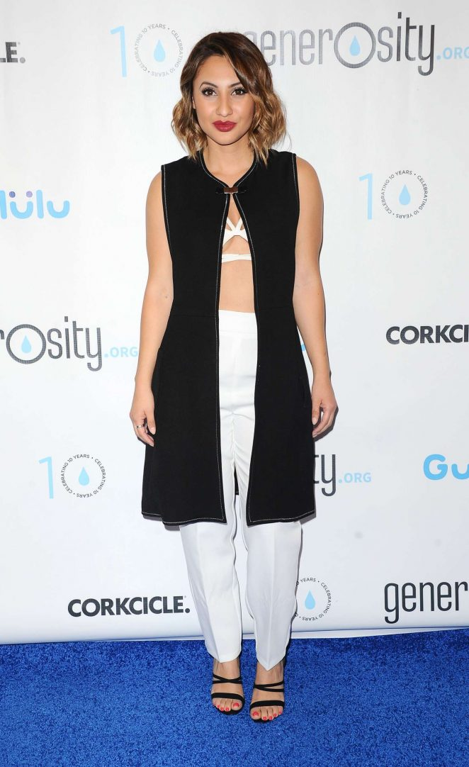 Francia Raisa - A Night Of Generosity Celebrating World Water Day in LA