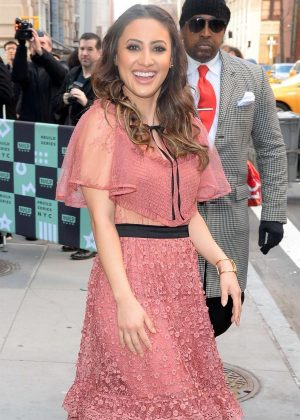 Francia Raisa - Arriving to AOL Build Series in New York City