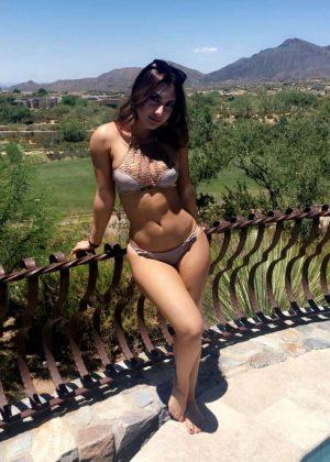 Francia Raisa in Bikini - Snapchat