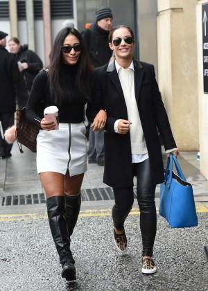 Frankie Bridge and Karen Clifton - Leaving their hotel in Birmingham