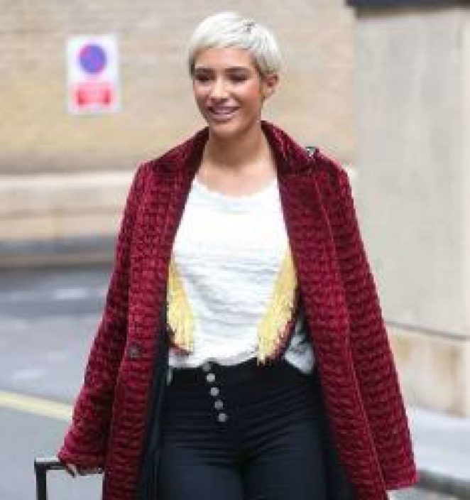 Frankie Bridge out in Central London