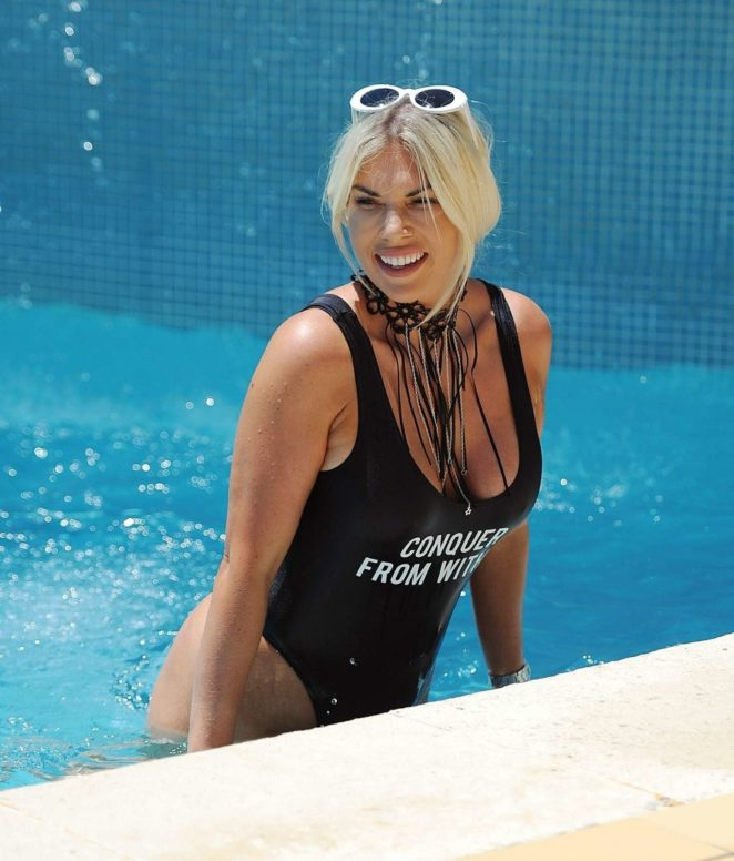 Frankie Essex - In Swimwear on holiday in Portugal