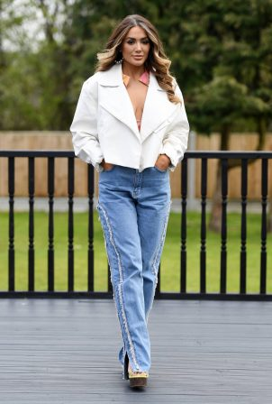 Frankie Sims - TOWiE TV Show filming in Essex