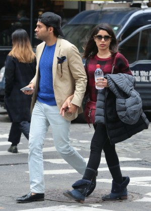 Freida Pinto and her boyfriend out in New York Freida Pinto Engaged