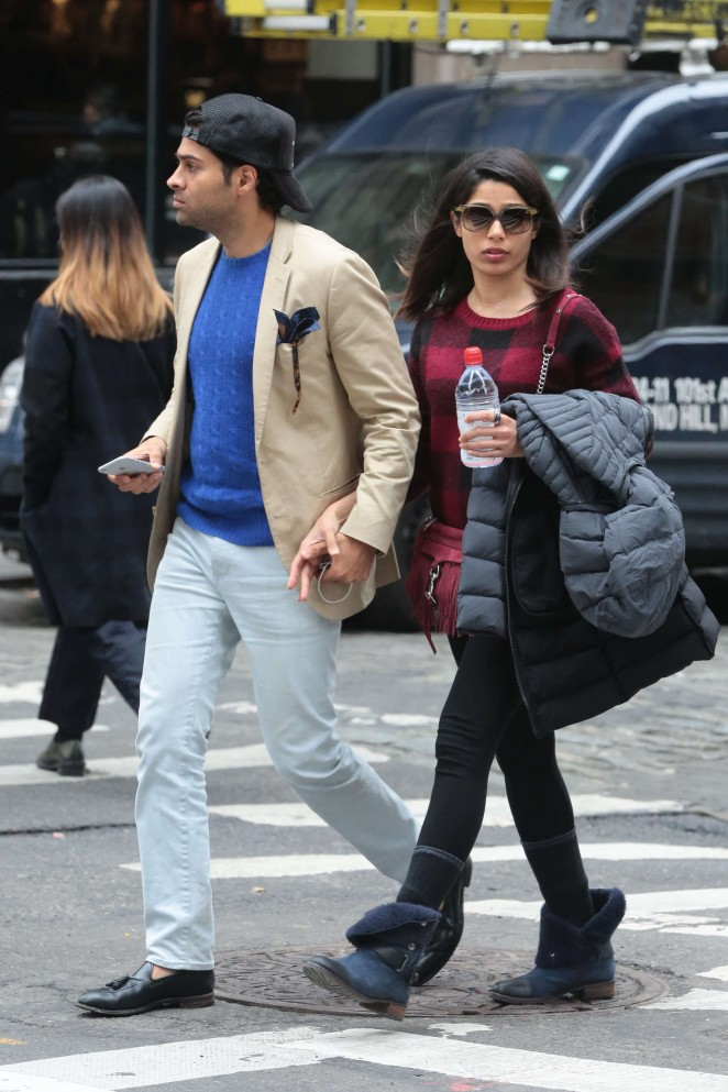 Freida Pinto and her boyfriend out in New York -02 – GotCeleb