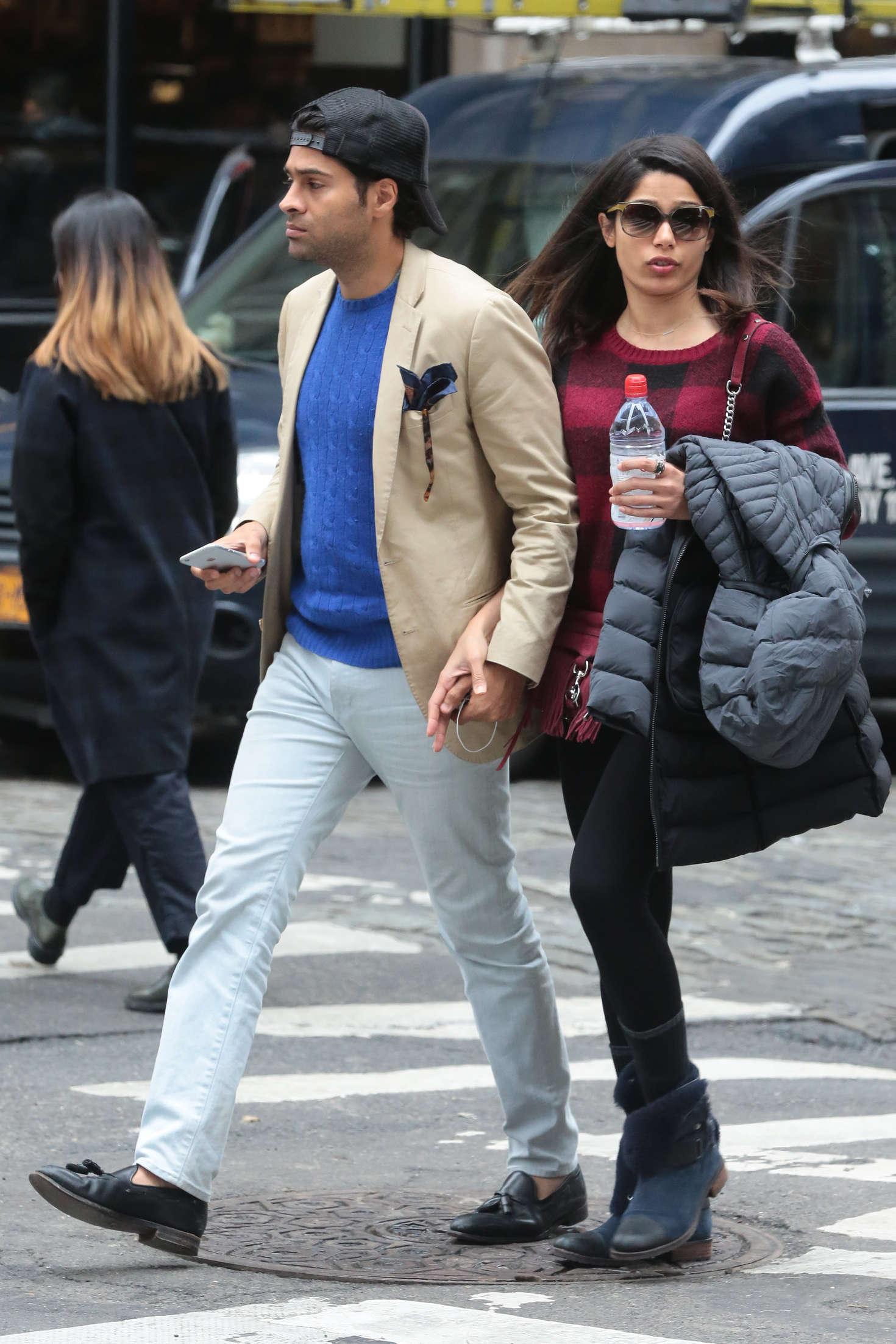 Freida Pinto and her boyfriend out in New York -04 – GotCeleb