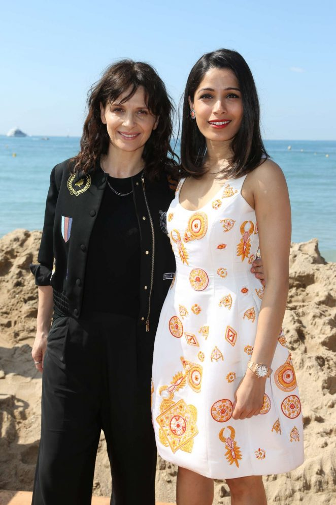 Freida Pinto and Juliette Binoche - 'Together Now' Press Conference in Cannes