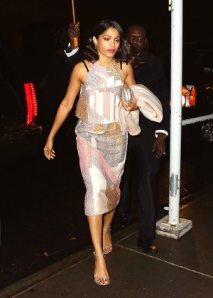 Freida Pinto Arrives At Dinner At The Lion In New York-03
