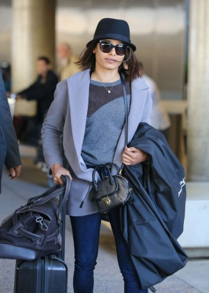 Freida Pinto at LAX airport in LA