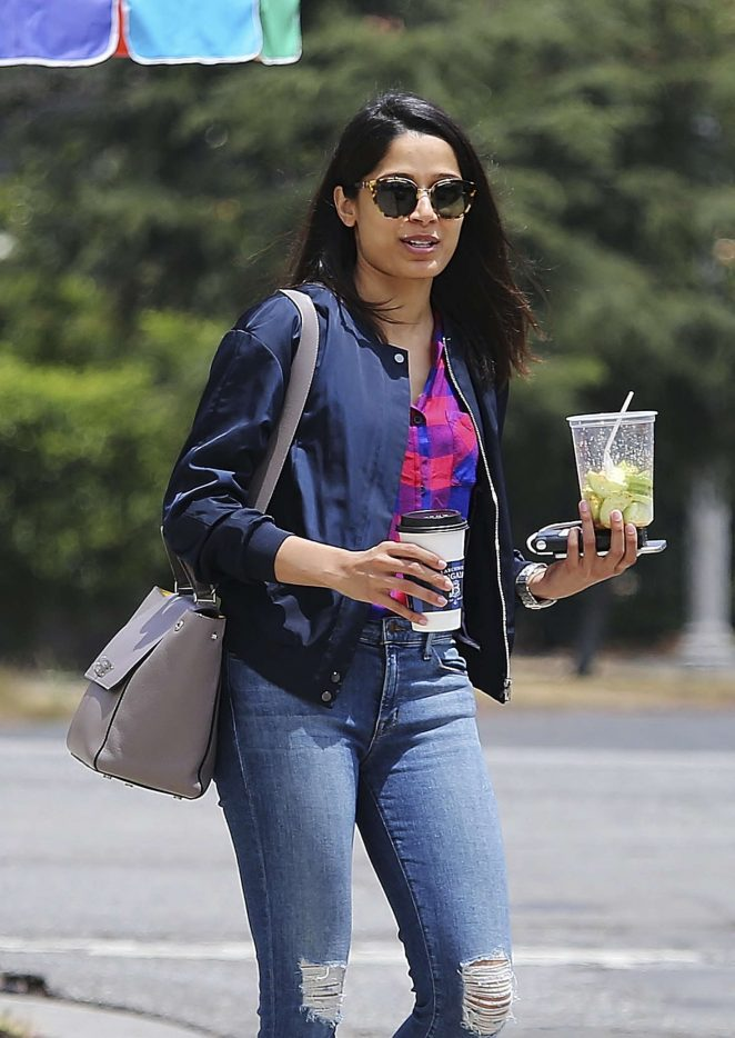Freida Pinto in Jeans out in Los Angeles