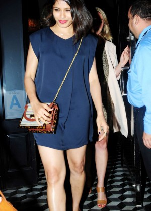 Freida Pinto in Mini Dress Night out in LA