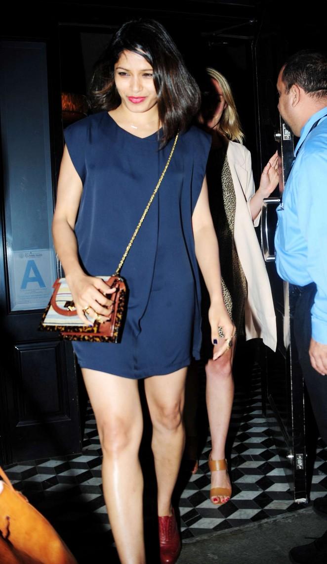 Freida Pinto in Mini Dress Night out in LA